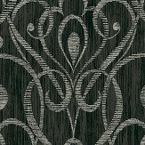 Today Interiors Heart Trail Black Wallpaper