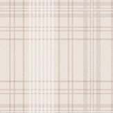 Eco Wallpaper Checked Tweed Taupe Wallpaper