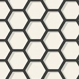Today Interiors Honeycomb Black & White Wallpaper