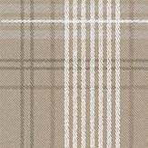 Eco Wallpaper Checked Tweed Brown Wallpaper