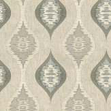 Albany San Marino Motif Charcoal / Natural Wallpaper