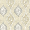 Albany San Marino Motif Cream / Silver Wallpaper