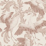 Eco Wallpaper Dancing Cranes Red Wallpaper