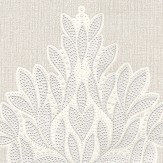 Albany Jewel Motif Silver Wallpaper