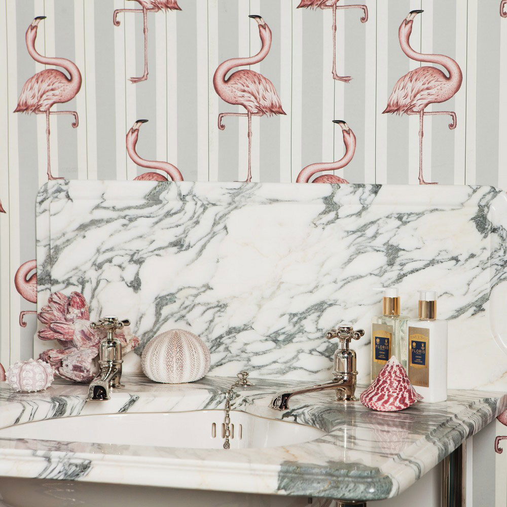 House Of Hackney Flamboyance Off White / Lavender Mural extra image