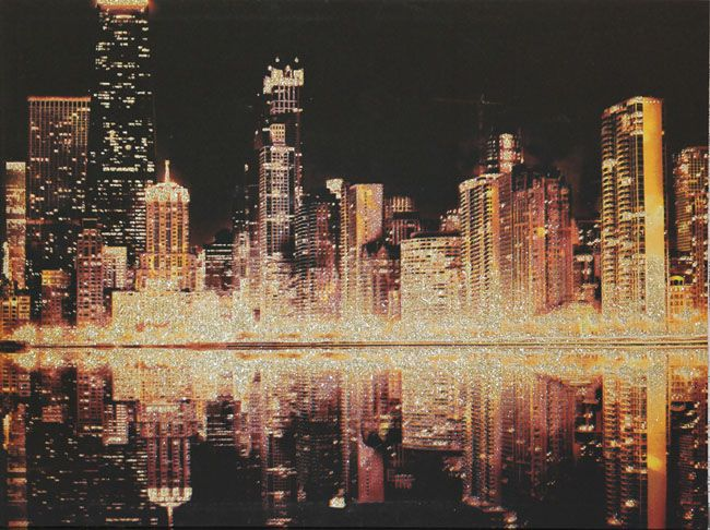 Glitter City By Arthouse Gold Art Wallpaper Direct