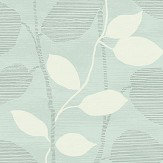 Today Interiors Vertical Leaf Trail Blue & Grey Wallpaper