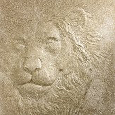 Arthouse Lion Gold Glitter Art