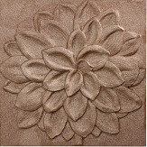 Arthouse Dahlia Copper Glitter Art