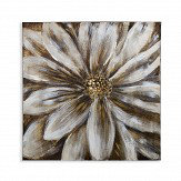 Arthouse Brushed Metal Flower Gold Art