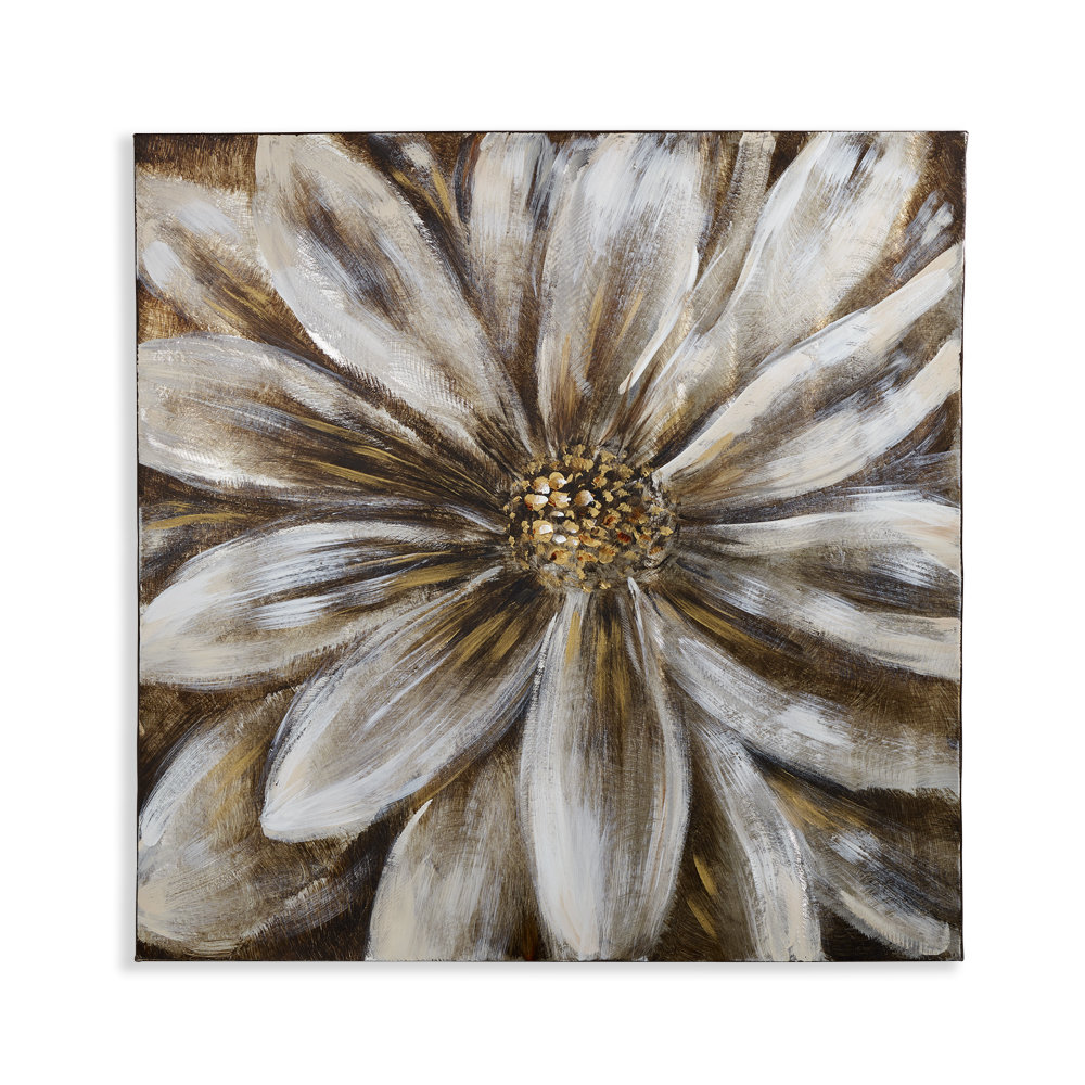 Arthouse Brushed Metal Flower Gold Art - Product code: 004312