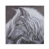 Arthouse Glitter Wolf Black / White Art