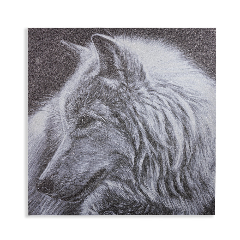 Arthouse Glitter Wolf Black / White Art - Product code: 004313