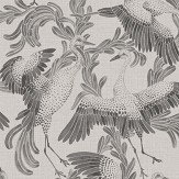 Eco Wallpaper Dancing Cranes Grey Wallpaper