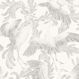 Eco Wallpaper Dancing Cranes Light Grey Wallpaper
