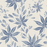 Eco Wallpaper Maple Leaf Blue Wallpaper