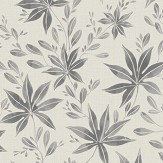 Eco Wallpaper Maple Leaf Dark Grey Wallpaper