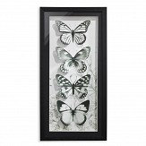 Arthouse Mono Butterflies Black / White Art