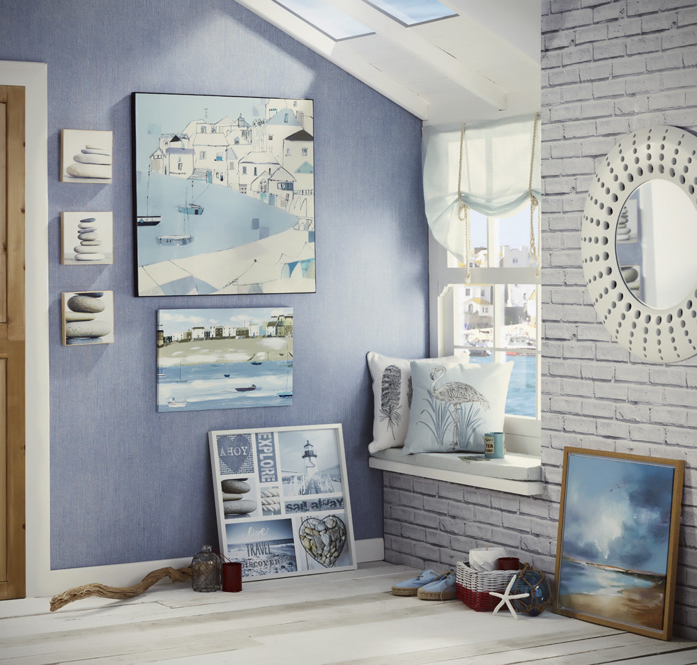 Arthouse Harbour Side Blue Art - Product code: 004326