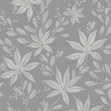 Eco Wallpaper Maple Leaf Grey Wallpaper