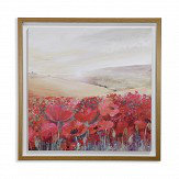 Arthouse Sunset Poppies Red Art