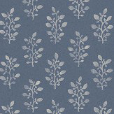 Eco Wallpaper Blockprint Ink Blue Wallpaper