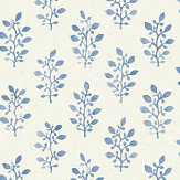 Eco Wallpaper Blockprint Blue & White Wallpaper