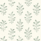 Eco Wallpaper Blockprint Green Wallpaper