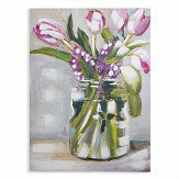 Arthouse Pink Painted Tulips Art