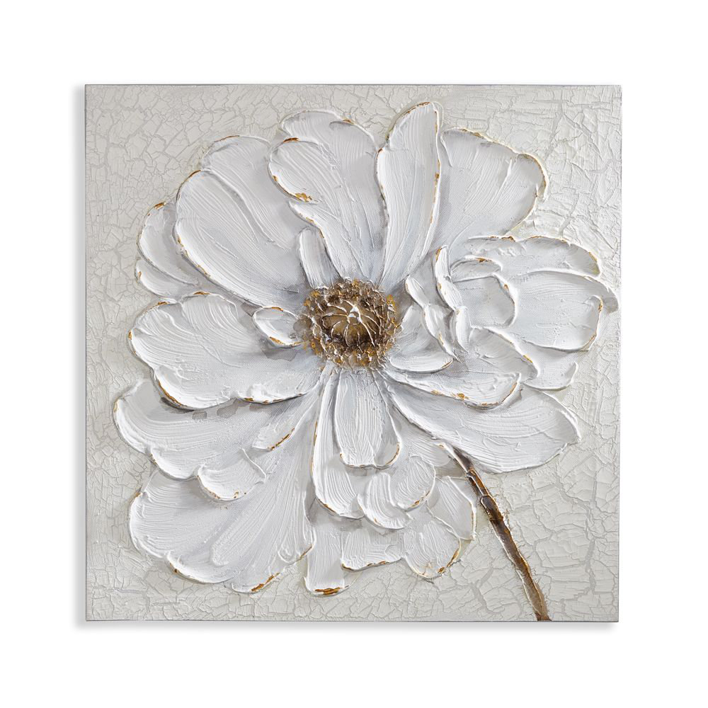 Plaster Floral By Arthouse White Wallpaper Direct