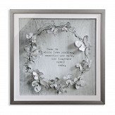 Arthouse Memories Diamante Frame Grey Art