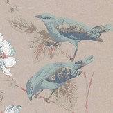 1838 Wallcoverings Rosemore Aqua / Gold Wallpaper