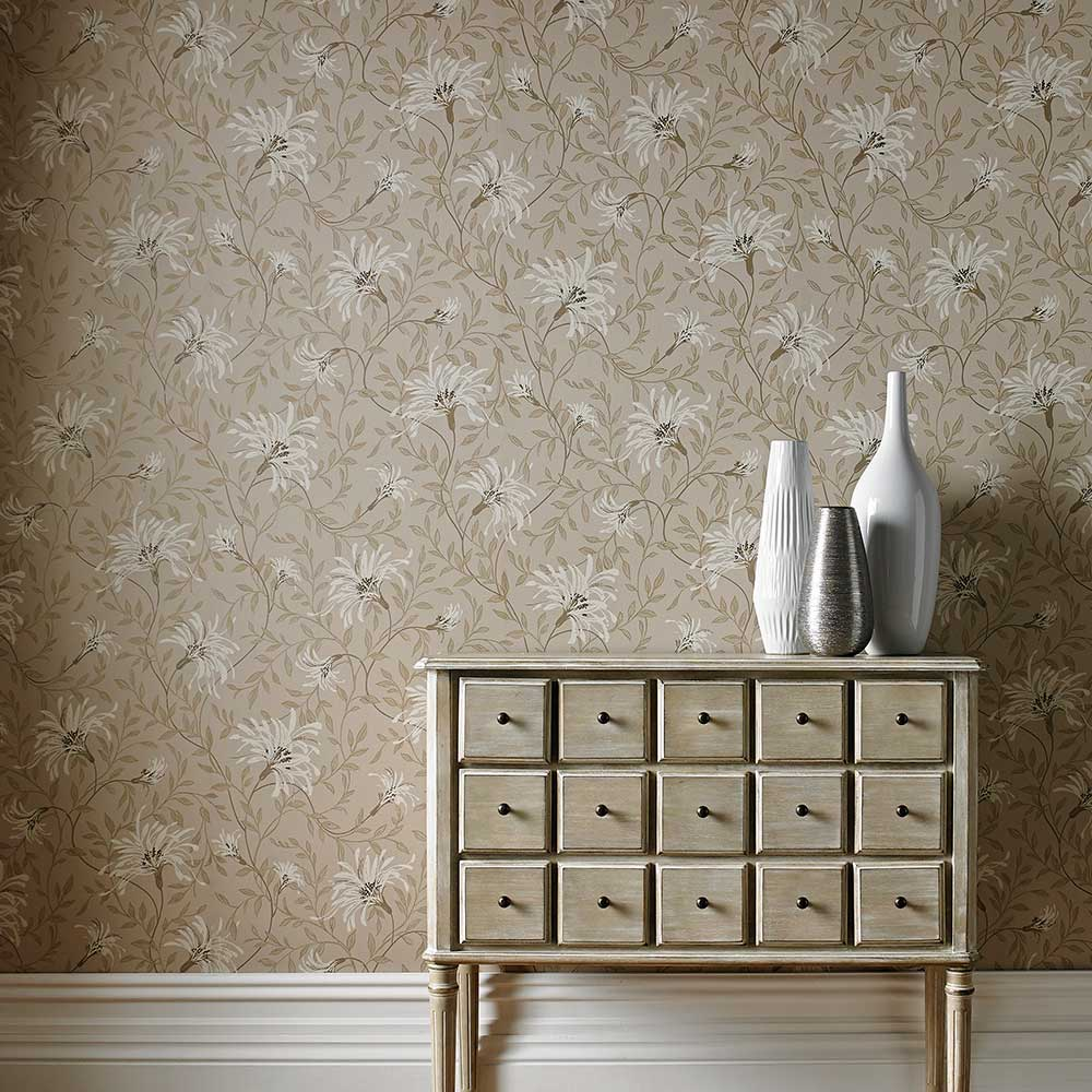 1838 Wallcoverings Fairhaven Taupe Wallpaper - Product code: 1601-101-03