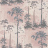 1838 Wallcoverings Prior Park Grey / Blush Wallpaper
