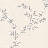 1838 Wallcoverings Milton Silver Wallpaper