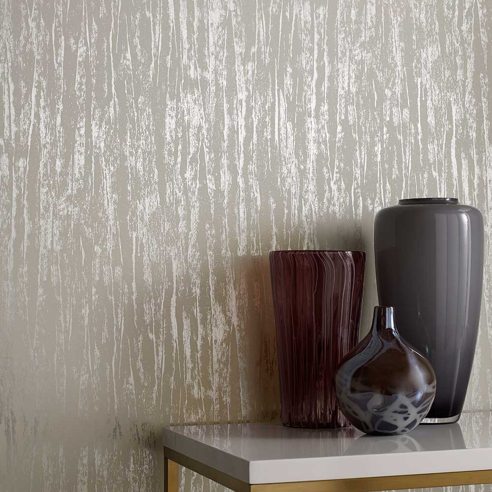 Helmsley Wallpaper - Foil - by 1838 Wallcoverings
