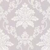 1838 Wallcoverings Hampton Grey / White Wallpaper