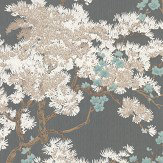 1838 Wallcoverings Harewood Aqua / Foil Wallpaper