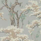 1838 Wallcoverings Harewood Eau De Nil Wallpaper