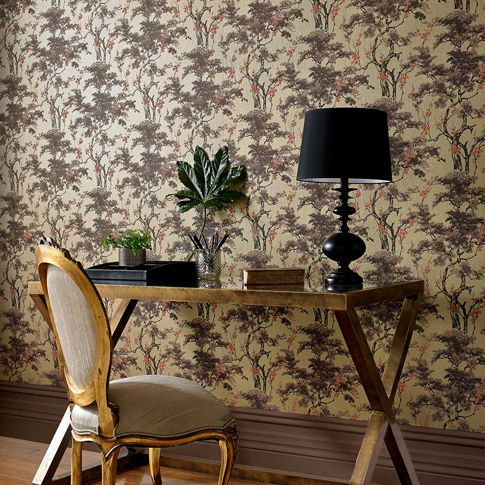 1838 Wallcoverings Harewood Gold Wallpaper - Product code: 1602-100-03