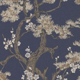 1838 Wallcoverings Harewood Midnight Wallpaper