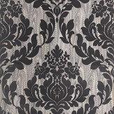 1838 Wallcoverings Faversham Black  Wallpaper