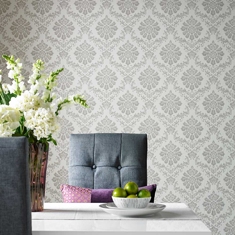 Broughton Wallpaper - Grey - by 1838 Wallcoverings