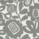 Scion Kukkia Charcoal Wallpaper - Product code: 111511