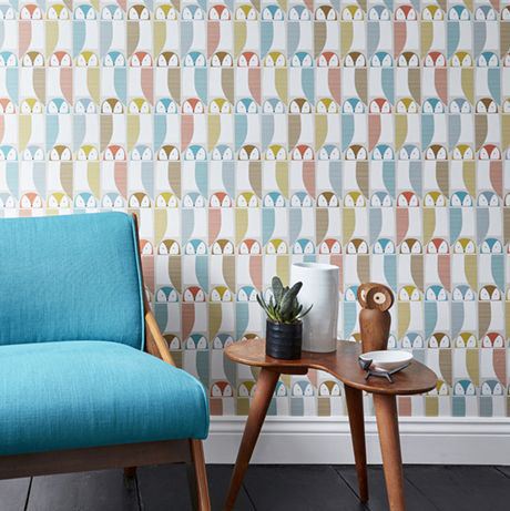 Scion Barnie Owl Pink Grapefruit / Sunshine / Julep Wallpaper - Product code: 111520