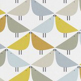 Scion Lintu Dandelion / Butterscotch / Pebble Wallpaper