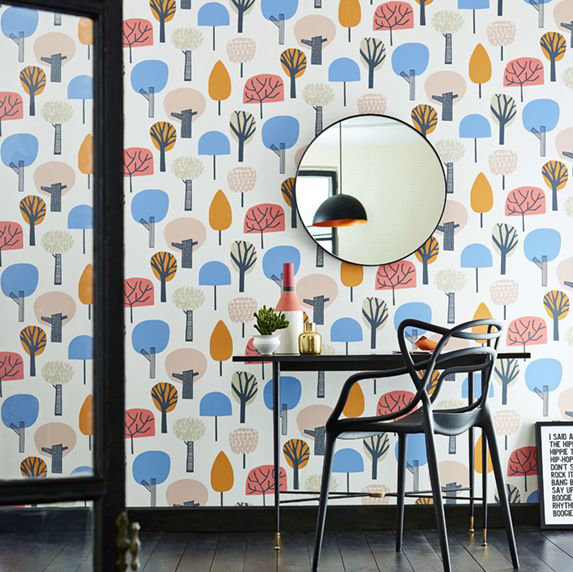 Scion Liora Honey / Cocoa / Slate Wallpaper - Product code: 111525