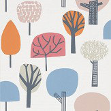 Scion Liora Watermelon / Tangerine / Lake Wallpaper - Product code: 111526