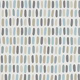 Scion Tikku Glacier / Pebble / Hemp Wallpaper