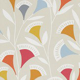 Scion Noukku Watermelon / Tangerine / Slate Wallpaper - Product code: 111546